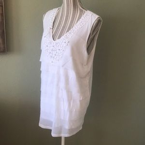 Worn twice, Alfani, sleeveless top, faux diamonds